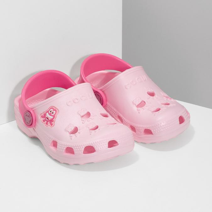 Dívčí růžové sandály se žabičkou coqui, růžová, 272-5650 - 26