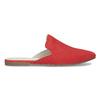 Pantofle z broušené kůže červené vagabond, červená, 573-5004 - 19