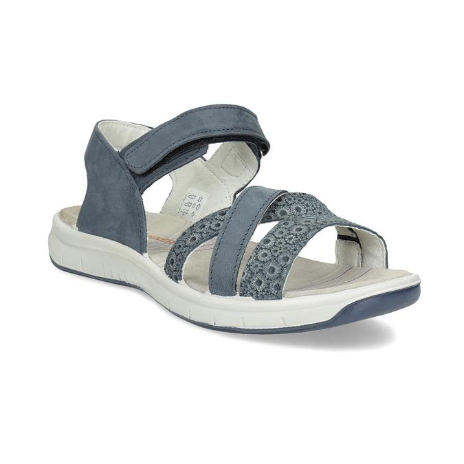 b9f95ec3cb Weinbrenner Kožené sandály v Outdoor stylu modré - Letní kolekce ...