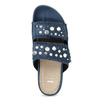 Modré nazouváky s kamínky a perličkami bata, modrá, 569-9618 - 17
