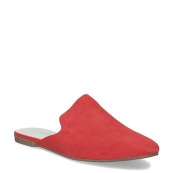 Pantofle z broušené kůže červené vagabond, červená, 573-5004 - 13