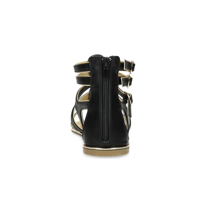Dámské černo-zlaté sandály bata, černá, 561-6620 - 15