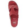 Červené kožené nazouváky na klínku s kamínky comfit, červená, 574-5438 - 17