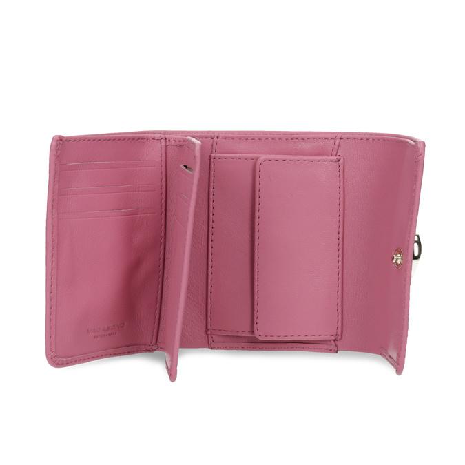 Růžová kožená peněženka se zlatým zapínáním vagabond, růžová, 966-5063 - 15