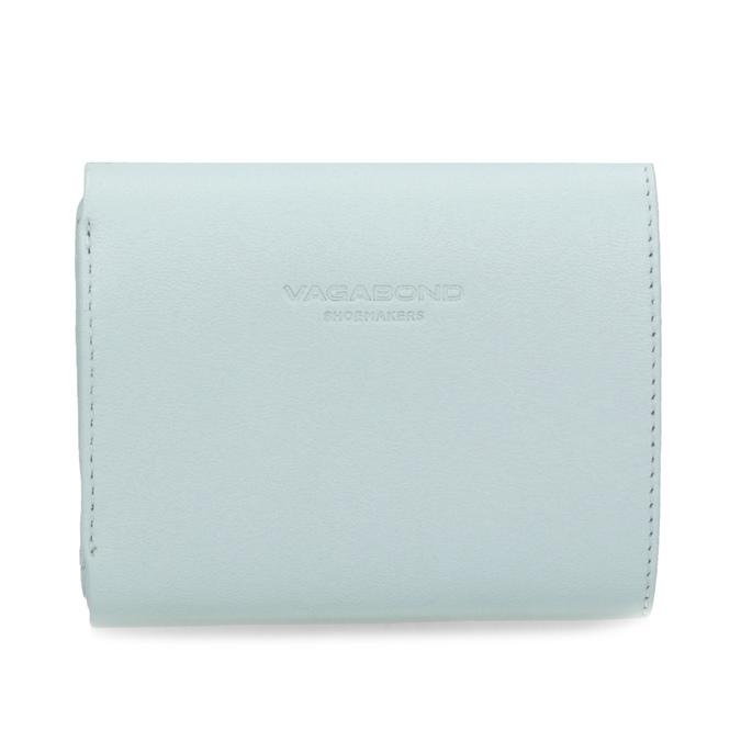 Modrá kožená peněženka se zlatým zapínáním vagabond, modrá, 966-9063 - 16