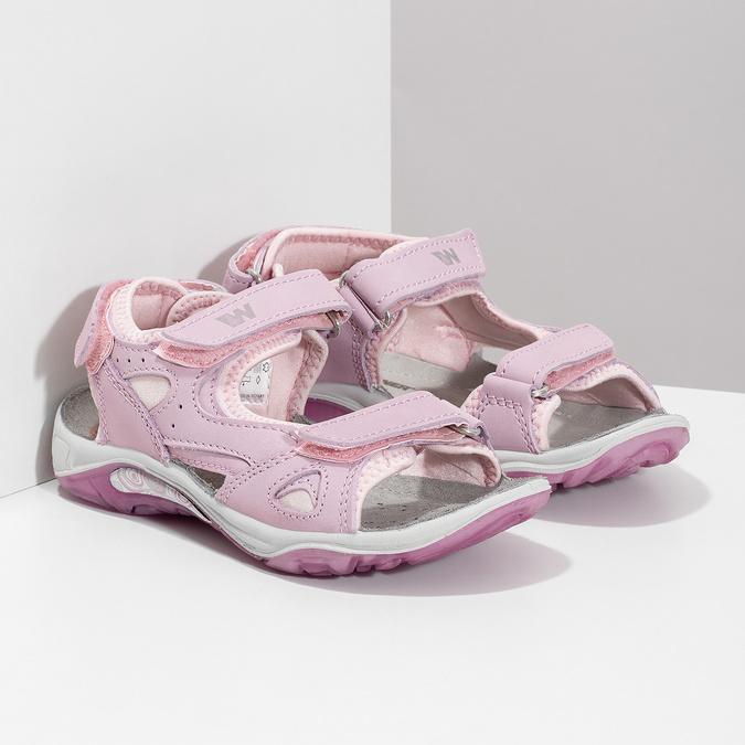Dívčí kožené sandály v Outdoor stylu weinbrenner, růžová, 366-5606 - 26