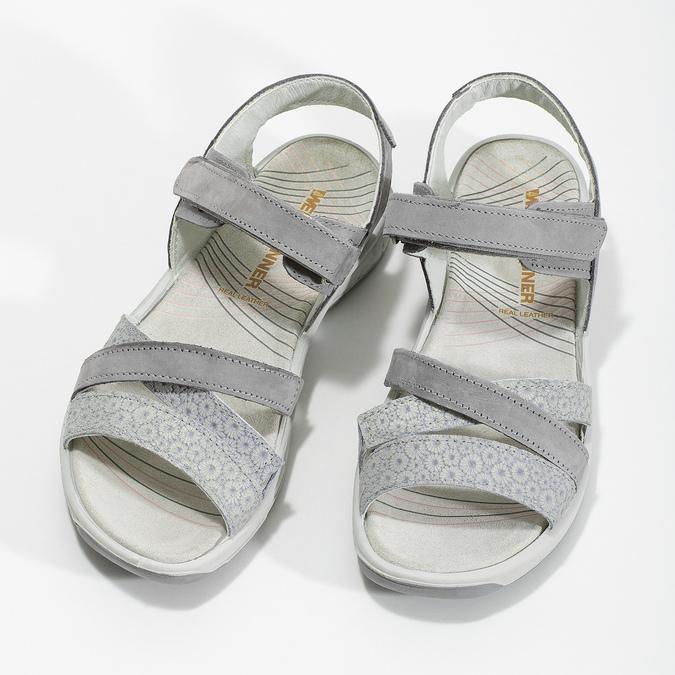 Kožené sandály v Outdoor stylu šedé weinbrenner, šedá, 566-2634 - 16