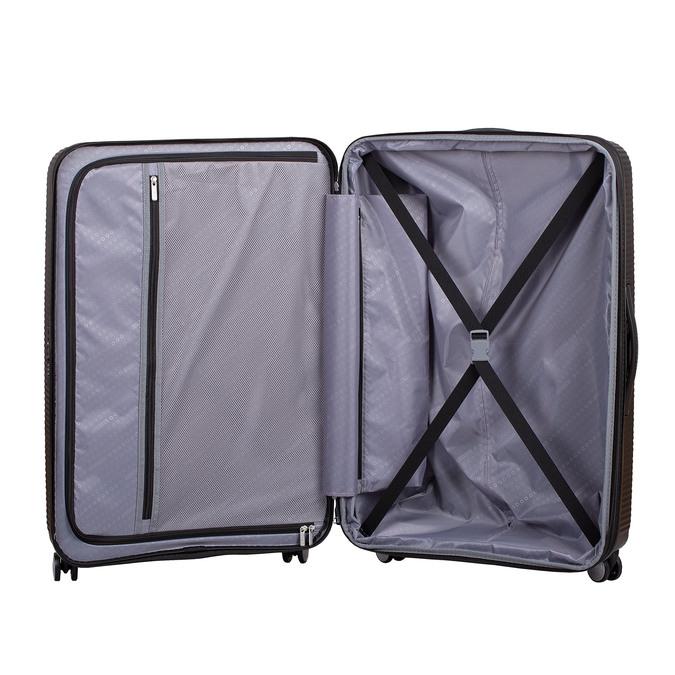 Černý kufr se skořepinou na kolečkách american-tourister, černá, 960-6613 - 17