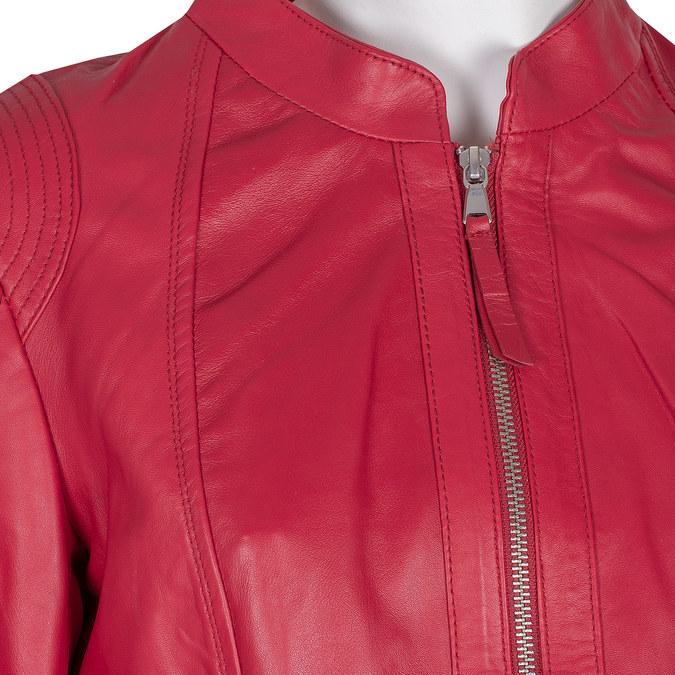 Červená kožená bunda bata, červená, 974-5180 - 16