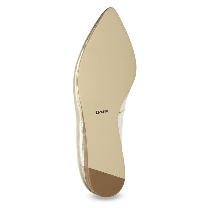 Zlaté kožené baleríny do špičky bata, 526-8242 - 18
