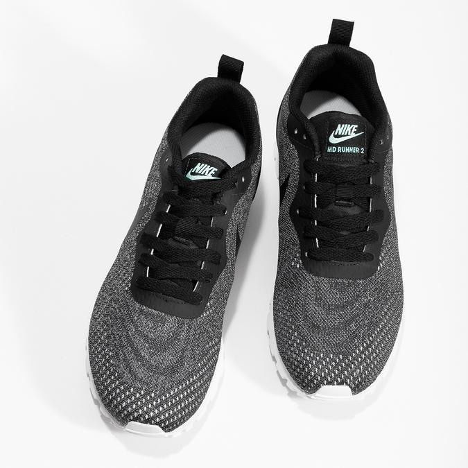 Dámské tenisky s černým úpletem nike, černá, 509-6103 - 16