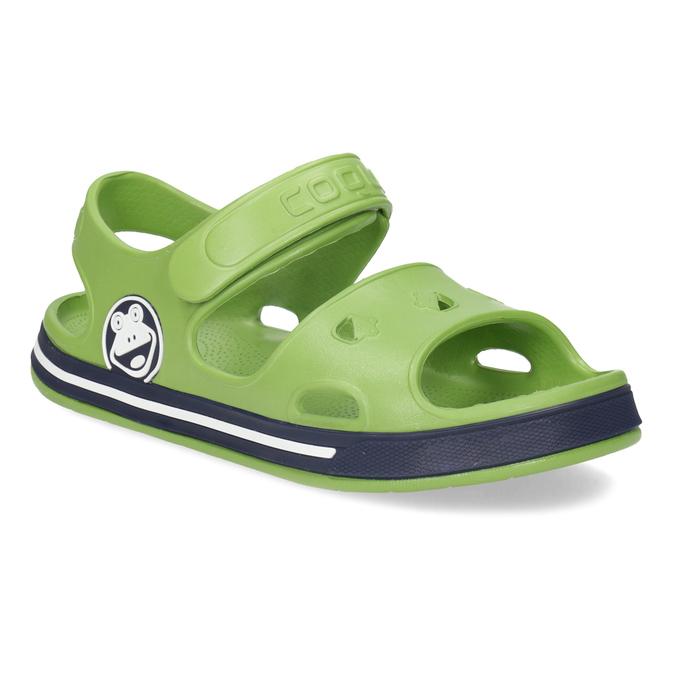 Dětské zelené sandály chlapecké coqui, zelená, 372-7658 - 13
