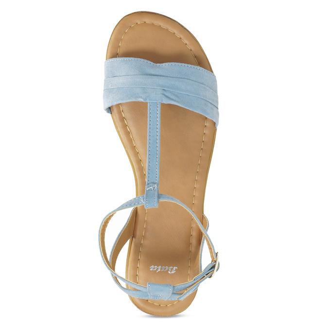 Světle modré dámské sandály bata, modrá, 569-9619 - 17