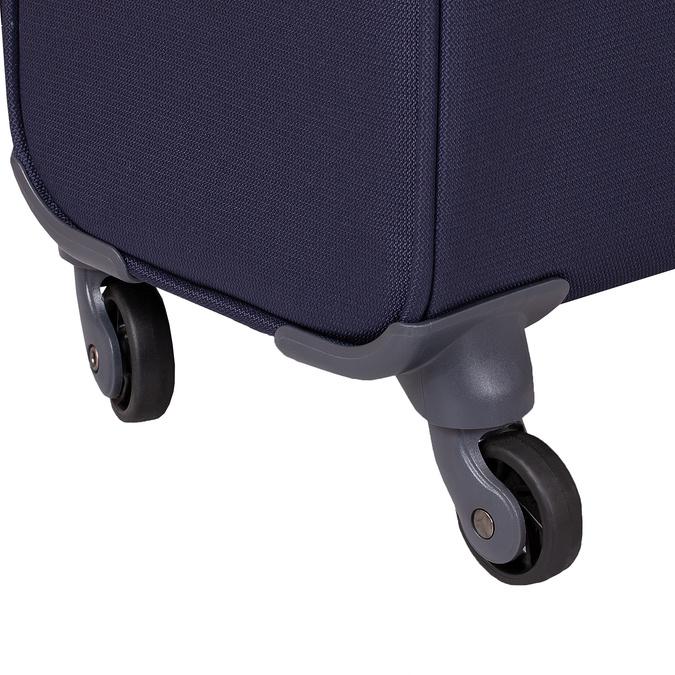 Tmavě modrý texilní kufr na kolečkách větší samsonite, modrá, 960-9042 - 16