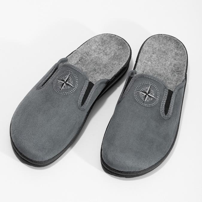 Pánská domácí obuv bata, šedá, 879-2610 - 16