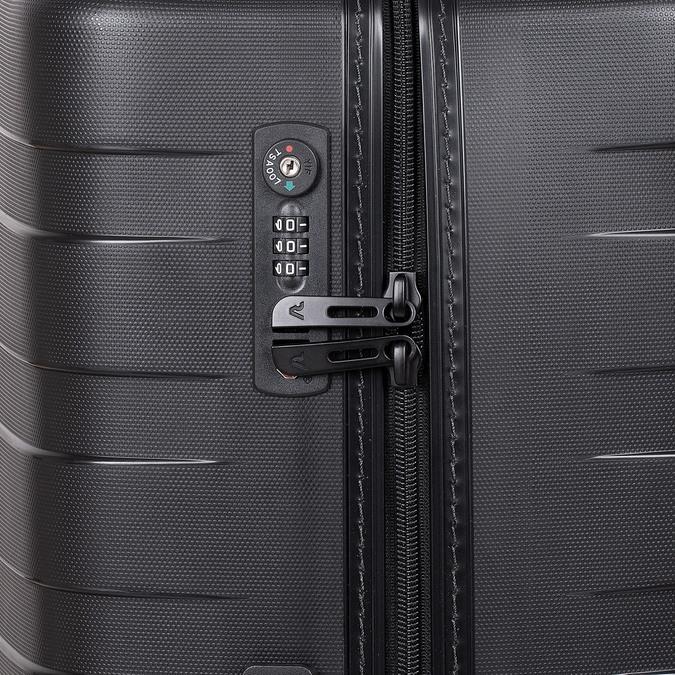 Skořepinový kufr černý velký roncato, černá, 960-9726 - 15