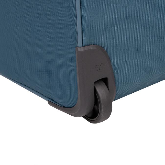 Tyrkysový textilní kufr na kolečkách roncato, modrá, 969-9720 - 16