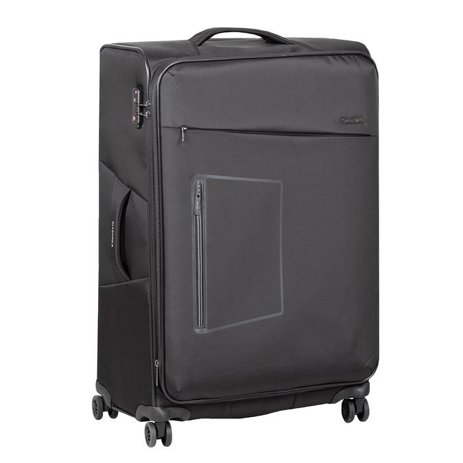 Středně velký textilní kufr na kolečkách roncato, černá, 969-6710 - 13