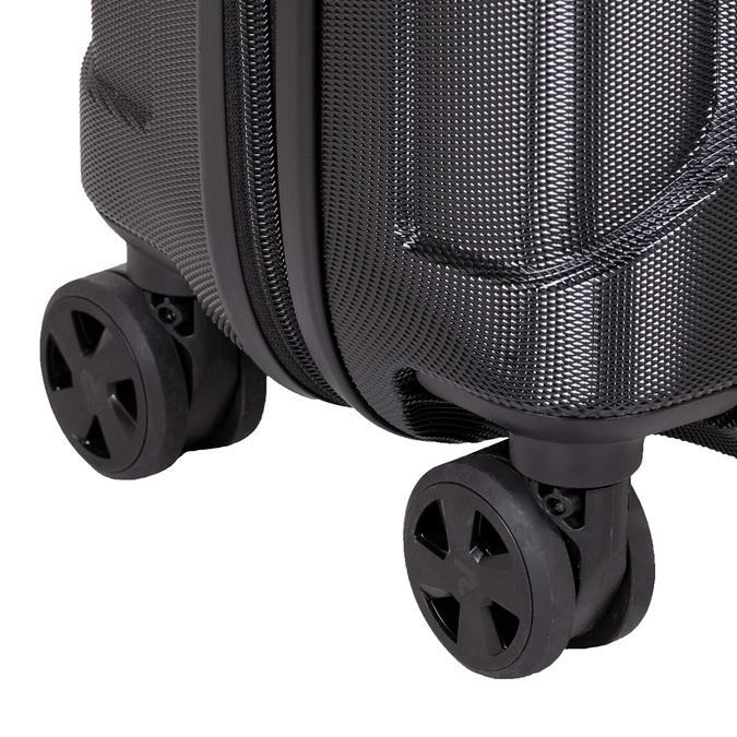 Černý kufr na kolečkách pevný malý roncato, černá, 960-6735 - 16