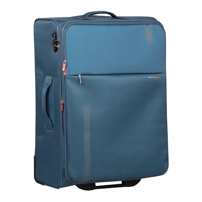Tyrkysový textilní kufr na kolečkách roncato, modrá, 969-9720 - 13