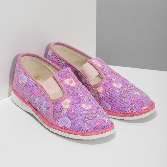 Dětské růžové přezůvky se vzorem bata, růžová, 379-5218 - 26