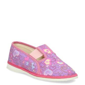 Růžové dětské přezůvky se vzorem bata, růžová, 279-5129 - 13