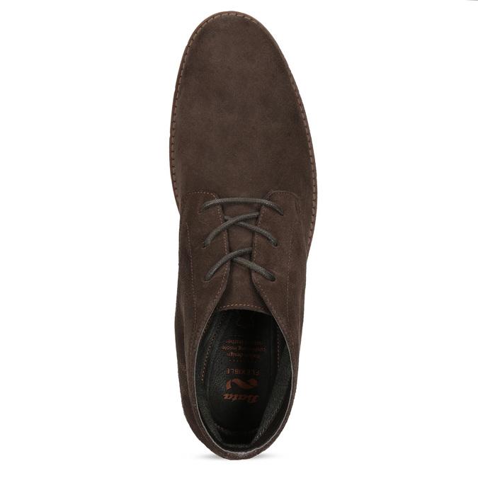 Pánská kotníčková kožená obuv hnědá flexible, hnědá, 823-4632 - 17