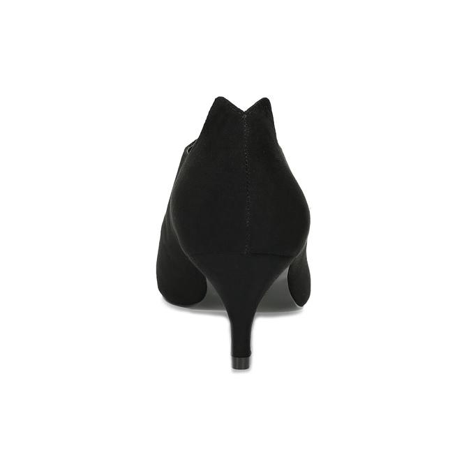 Černé dámské lodičky s vykrojením insolia, černá, 629-6648 - 15