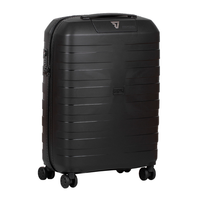 Malý skořepinový kufr na kolečkách roncato, černá, 960-9728 - 13