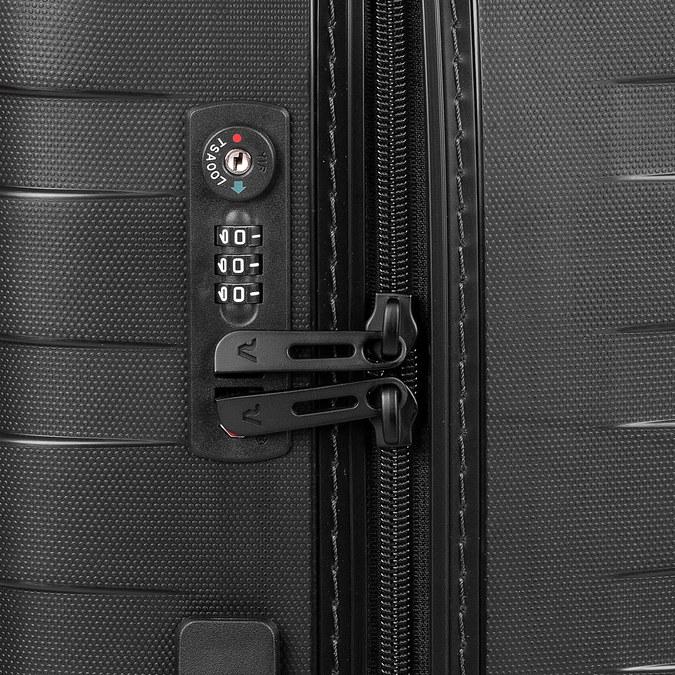 Malý skořepinový kufr na kolečkách roncato, černá, 960-9728 - 15