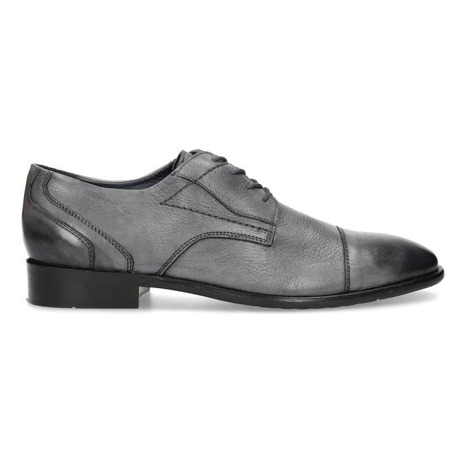 Kožené šedé pánské Derby polobotky bata, šedá, 826-2782 - 19