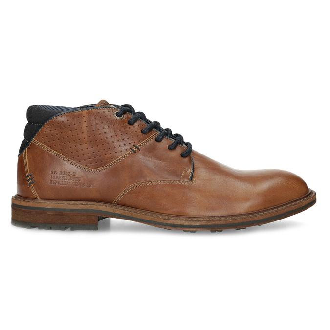 Kotníčková kožená obuv pánská hnědá bata, hnědá, 826-3505 - 19