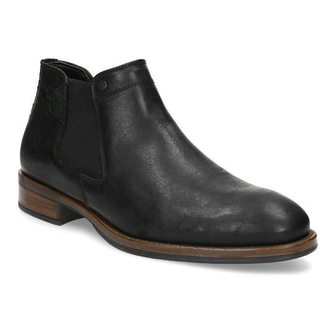 Pánské Chelsea kožené černé bata, černá, 826-6504 - 13