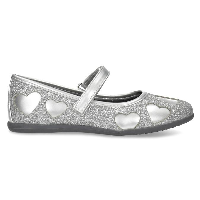Dívčí baleríny se třpytkami mini-b, stříbrná, 229-2214 - 19