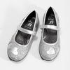 Dívčí baleríny se třpytkami mini-b, stříbrná, 229-2214 - 16