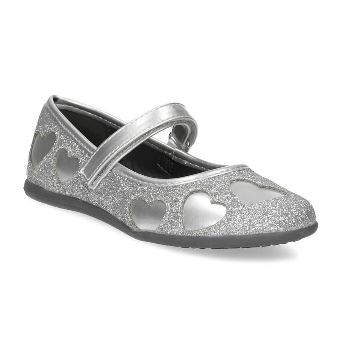 Dívčí baleríny se třpytkami mini-b, stříbrná, 229-2214 - 13