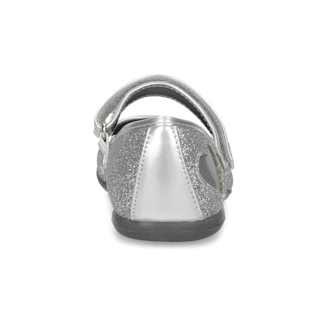 Dívčí baleríny se třpytkami mini-b, stříbrná, 229-2214 - 15