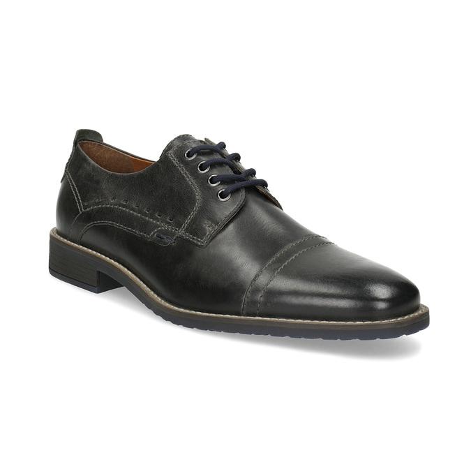 Pánské kožené Derby polobotky bata, černá, 826-2866 - 13