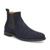 Tmavě modrá kožená pánská Chelsea obuv vagabond, modrá, 813-6153 - 13