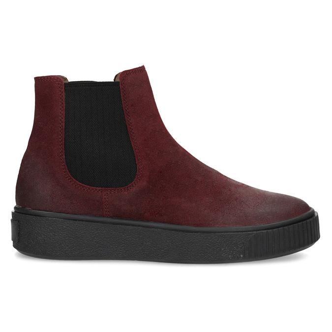 Kožená vínová dámská Chelsea obuv bata, červená, 596-5713 - 19