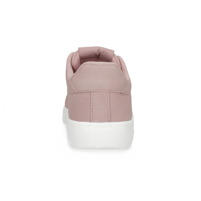 Růžové dámské tenisky se saténovými tkaničkami power, růžová, 501-5169 - 15