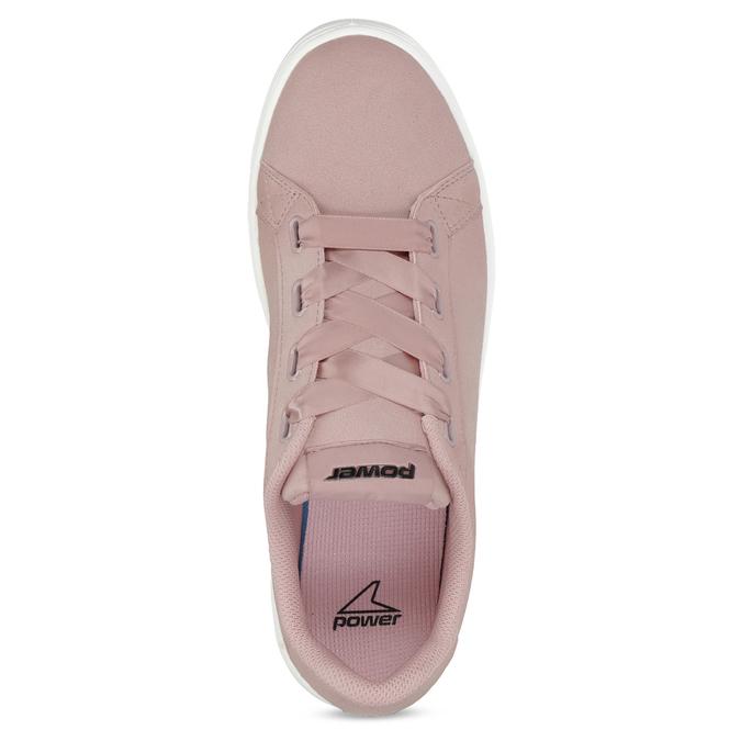 Růžové dámské tenisky se saténovými tkaničkami power, růžová, 501-5169 - 17