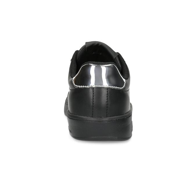 Černé dámské tenisky se stříbrnými detaily power, černá, 501-6168 - 15