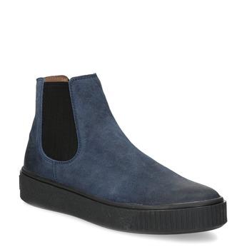Modrá dámská kožená Chelsea obuv bata, modrá, 596-9713 - 13