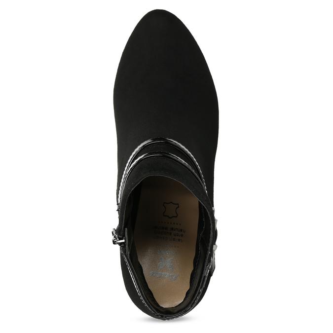 Kotníčkové kozačky na jehlovém podpatku bata, černá, 799-6623 - 17