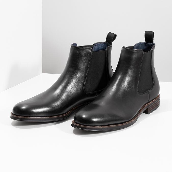 Kožené Chelsea Boots bata, černá, 894-6400 - 16