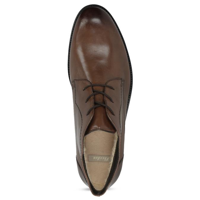 Pánská kožená kotníčková obuv bata, hnědá, 826-3893 - 17