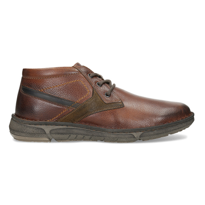 Kožená pánská kotníčková obuv bata, hnědá, 846-4718 - 19