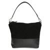 Kožená černá kabelka v Hobo stylu bata, černá, 963-6600 - 26
