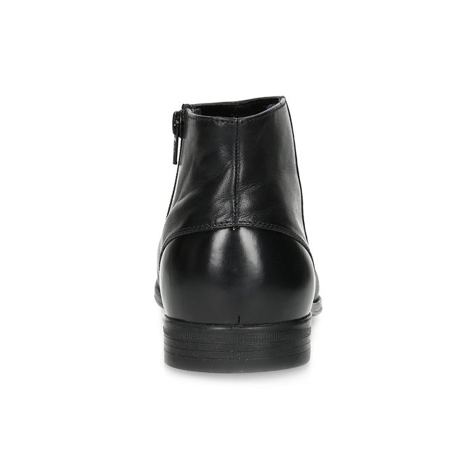 Kožená kotníčková obuv elegantní bata, černá, 824-6634 - 15